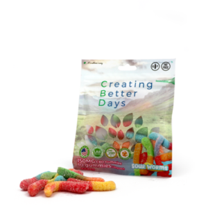 EDIBLES sour worms 150